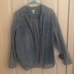 Denim button up. Like new! Worn once!
